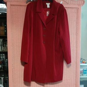 Red pant suit long jacket New 😍🤩 POWER SUIT